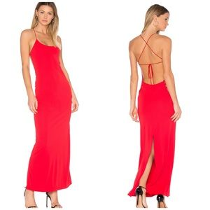Nbd Revolve red strappy back Arabella maxi dress